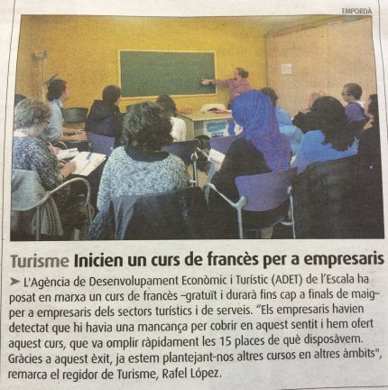 French lessons by the Yes! language school at the local L'Empordà newspaper